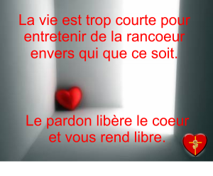 Rancoeur vs pardon